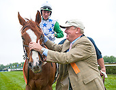Bill Price greets Baltic Shore after Queens Cup.