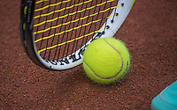 Hilversum, Netherlands, August 12, 2016, National Junior Championships, NJK, Ball and racket an clay court<br /> Photo: Tennisimages/Henk Koster