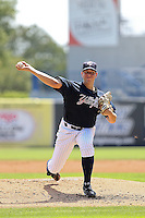 May 13, 2010: Starting Pitcher Graham Stoneburner of the Tampa Yankees delivers a pitch during a game at George M Steinbrenner Field in Tampa, FL. Tampa is the Florida State League High Class-A affiliate of the New York Yankees. Photo By Mark LoMoglio/