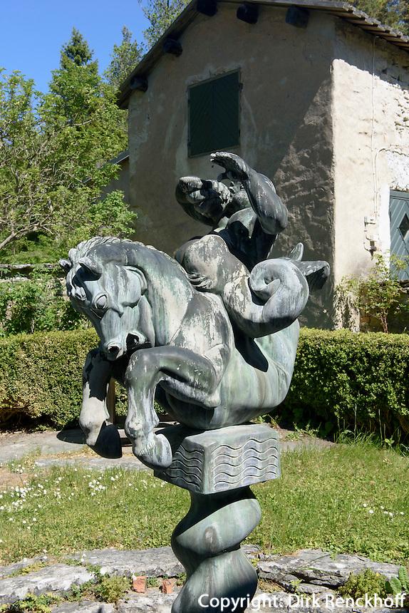 Brunnen im Garten der Villa Muramaris auf der Insel Gotland, Schweden, Europa<br /> fountain at Villa Muramaris,  Isle of Gotland, Sweden