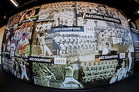 """The Wake Forest baseball """"Wall of Champions"""" in the new $14M home locker room at David F. Couch Ballpark on February 24, 2017 in  Winston-Salem, North Carolina.  (Brian Westerholt/Four Seam Images)"""