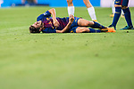 Sergi Roberto Carnicer of FC Barcelona lies injured on the pitch during their Supercopa de Espana Final 2nd Leg match between Real Madrid and FC Barcelona at the Estadio Santiago Bernabeu on 16 August 2017 in Madrid, Spain. Photo by Diego Gonzalez Souto / Power Sport Images