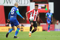Ollie Watkins of Brentford in action during Brentford vs Wigan Athletic, Sky Bet EFL Championship Football at Griffin Park on 4th July 2020