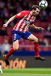 Diego Roberto Godin Leal of Atletico de Madrid heads the ball during the La Liga 2017-18 match between Atletico de Madrid and CD Leganes at Wanda Metropolitano on February 28 2018 in Madrid, Spain. Photo by Diego Souto / Power Sport Images