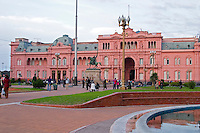 The Casa Rosada, pink house, or Casa Gobierno, housing the government on Plaza de Mayo May square. Buenos Aires Argentina, South America