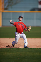 Joe Wozny (17) of The Stony Brook School in Lake Grove, New York during the Baseball Factory All-America Pre-Season Tournament, powered by Under Armour, on January 13, 2018 at Sloan Park Complex in Mesa, Arizona.  (Mike Janes/Four Seam Images)