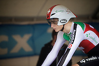 Thery Schir (SUI) warming up<br /> <br /> U23 Men TT<br /> UCI Road World Championships / Richmond 2015