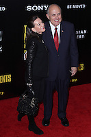 """NEW YORK, NY - FEBRUARY 04: Judith Nathan, Rudy Giuliani at the New York Premiere Of Columbia Pictures' """"The Monuments Men"""" held at Ziegfeld Theater on February 4, 2014 in New York City, New York. (Photo by Jeffery Duran/Celebrity Monitor)"""