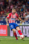 Lucas Hernandez of Atletico de Madrid in action during the La Liga 2018-19 match between Atletico de Madrid and Rayo Vallecano at Wanda Metropolitano on August 25 2018 in Madrid, Spain. Photo by Diego Souto / Power Sport Images