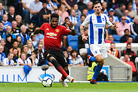 Fred of Manchester United (17) In action during the Premier League match between Brighton and Hove Albion and Manchester United at the American Express Community Stadium, Brighton and Hove, England on 19 August 2018. Photo by Edward Thomas / PRiME Media Images.