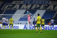 14th March 2021; Dragao Stadium, Porto, Portugal; Portuguese Championship 2020/2021, FC Porto versus Pacos de Ferreira; Agustín Marchesín of FC Porto makes a save high on the goal