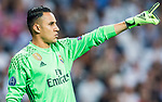 Goalkeeper Keylor Navas of Real Madrid gestures during their 2016-17 UEFA Champions League Semifinals 1st leg match between Real Madrid and Atletico de Madrid at the Estadio Santiago Bernabeu on 02 May 2017 in Madrid, Spain. Photo by Diego Gonzalez Souto / Power Sport Images