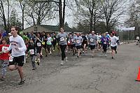 Barnesville Park Rotary Lake 5K Trail Run/Walk & Kids fun run, at Barnesville Park Rotary Lake, Barnesville, Ohio on March 31, 2012.