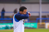 Rochdale's Joe Thompson makes his return to football action after few months out with cancer ahead of the Sky Bet League 1 match between Rochdale and Walsall at Spotland Stadium, Rochdale, England on 23 December 2017. Photo by Juel Miah / PRiME Media Images.