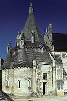 Europe/France/Pays de la Loire/Maine-et-Loire/Fontevraud-l'Abbaye : Abbaye royale de Fontevraud, vue extérieure de la cuisine