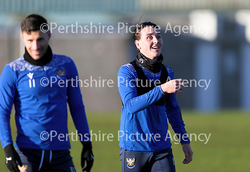 St Johnstone Training…. 22.12.20<br />Danny McNamara pictured during training at McDiarmid Park<br />Picture by Graeme Hart.<br />Copyright Perthshire Picture Agency<br />Tel: 01738 623350  Mobile: 07990 594431