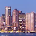 Dawn on the Boston waterfront, Boston, Massachusetts, USA