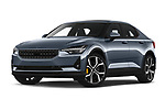 Stock pictures of low aggressive front three quarter view of 2020 Polestar Polestar-2 Pilot-Plus 5 Door Hatchback Low Aggressive