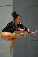 BARRANQUILLA - COLOMBIA, 22-07-2018: Dayana Ardila, gimnasta de Colombia, durante su participación en gimnasia mujeres modalidad Viga de Equilibrio, como parte de los Juegos Centroamericanos y del Caribe Barranquilla 2018. /  Dayana Ardila, gymnast of Colombia, during her participation in gymnastics, modality Viga de Equilibrio, as a part of the Central American and Caribbean Sports Games Barranquilla 2018. Photo: VizzorImage / Alfonso Cervantes / Cont.
