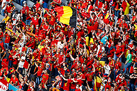 Belgium fans cheer on during the Uefa Euro 2020 round of 8 football match between Belgium and Italy at football arena in Munich (Germany), July 2nd, 2021. Photo Matteo Ciambelli / Insidefoto