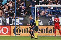 SAN JOSE, CA - FEBRUARY 29: Chris Wondolowski #8 of the San Jose Earthquakes celebrates during a game between Toronto FC and San Jose Earthquakes at Earthquakes Stadium on February 29, 2020 in San Jose, California.