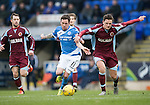 St Johnstone v Stenhousemuir…21.01.17  McDiarmid Park  Scottish Cup<br />Danny Swanson and Ross Meechan<br />Picture by Graeme Hart.<br />Copyright Perthshire Picture Agency<br />Tel: 01738 623350  Mobile: 07990 594431