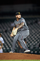 Salt River Rafters pitcher Joey Krehbiel (14), of the Arizona Diamondbacks organization, during a game against the Mesa Solar Sox on October 22, 2016 at Sloan Park in Mesa, Arizona.  Salt River defeated Mesa 7-2.  (Mike Janes/Four Seam Images)