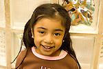 Education preschoool children ages 3-5 closeup portrait of girl horizontal
