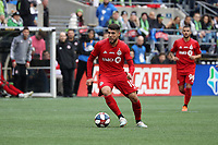 SEATTLE, WA - NOVEMBER 10: Alejandro Pozuelo #10 of Toronto FC plays the ball during a game between Toronto FC and Seattle Sounders FC at CenturyLink Field on November 10, 2019 in Seattle, Washington.