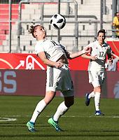 Alexandra Popp,   Verena Faisst     <br /> /   World Championships Qualifiers women women /  2017/2018 / 07.04.2018 / DFB National Team / GER Germany vs. Czech Republic CZE 180407050 / <br />  *** Local Caption *** © pixathlon<br /> Contact: +49-40-22 63 02 60 , info@pixathlon.de