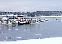 Winter Docks, Stonington, Maine