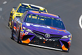 2017 Monster Energy NASCAR Cup Series<br /> O'Reilly Auto Parts 500<br /> Texas Motor Speedway, Fort Worth, TX USA<br /> Sunday 9 April 2017<br /> Denny Hamlin, FedEx Office Toyota Camry and Daniel Suarez, STANLEY Toyota Camry<br /> World Copyright: Russell LaBounty/LAT Images<br /> ref: Digital Image 17TEX1rl_4821