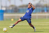 BRADENTON, FL - JANUARY 23: Jonathan Lewis shoots the ball during a training session at IMG Academy on January 23, 2021 in Bradenton, Florida.