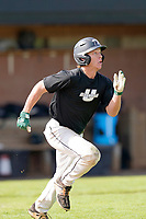 Connor Jurek (3) of the University of South Carolina Upstate Spartans runs toward first in the Green and Black Fall World Series Game 2 on Saturday, October 31, 2020, at Cleveland S. Harley Park in Spartanburg, South Carolina. Green won, 6-5. (Tom Priddy/Four Seam Images)