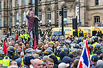 © Joel Goodman - 07973 332324 - all rights reserved . 03/06/2017 . Liverpool , UK . Hundreds of police manage a demonstration by the far-right street protest movement , the English Defence League ( EDL ) and an demonstration by opposing anti-fascists , including Unite Against Fascism ( UAF ) . Photo credit : Joel Goodman