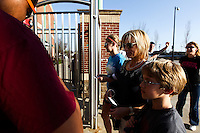 Fans enter the gate of Hammons Field prior to a game between the Purdue Boilermakers and the Missouri State Bears on March 13, 2012 in Springfield, Missouri. (David Welker / Four Seam Images).