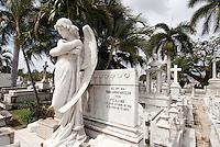 Cuba, Friedhof i Necropolis Santa Ifigenia in Santiago de Cuba