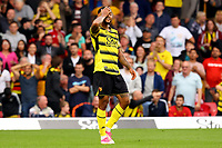 25th September 2021; Vicarge Road, Watford, Herts,  England;  Premier League football, Watford versus Newcastle; Joshua King of Watford reacts as his goal is disallowed by VAR