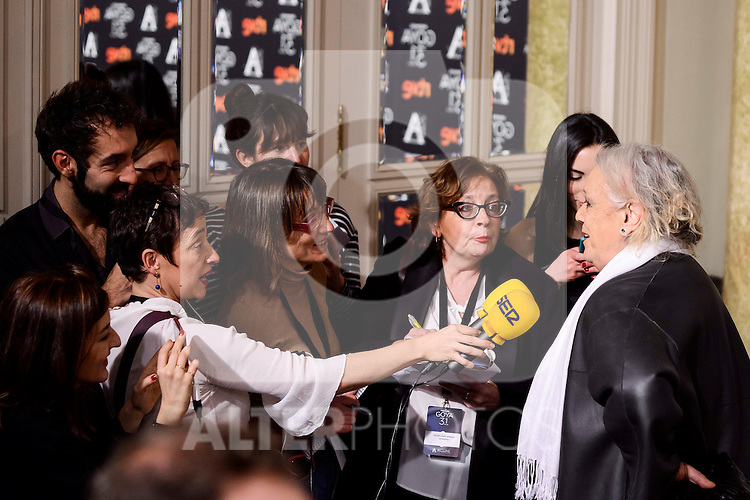 Terele Pavez attends to the 2017 Goya Awards Candidates Cocktail at Ritz Hotel in Madrid, Spain. January 12, 2017. (ALTERPHOTOS/BorjaB.Hojas)