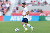 SANDY, UT - JUNE 10: Sebastian Lletget #17 of the United States moves with the ball during a game between Costa Rica and USMNT at Rio Tinto Stadium on June 10, 2021 in Sandy, Utah.