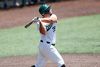 Wright State Raiders first baseman Zane Harris (39) at bat against the Duke Blue Devils in NCAA Regional play on Robert M. Lindsay Field at Lindsey Nelson Stadium on June 5, 2021, in Knoxville, Tennessee. (Danny Parker/Four Seam Images)