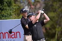 James Hydes. Day one of the Renaissance Brewing NZ Stroke Play Championship at Paraparaumu Beach Golf Club in Paraparaumu, New Zealand on Thursday, 18 March 2021. Photo: Dave Lintott / lintottphoto.co.nz