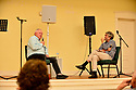 """CORAL GABLES, FL - JUNE 26: Author Les Standiford in conversation with Mitchell Kaplan (R) discussing Les Standiford new book the """"Battle for the Big Top: P.T. Barnum, James Bailey, John Ringling, and the Death-Defying Saga of the American Circus"""" Hosted by Books and Books at Sanctuary of the Arts on June 26, 2021 in Coral Gables, Florida.  ( Photo by Johnny Louis / jlnphotography.com )"""