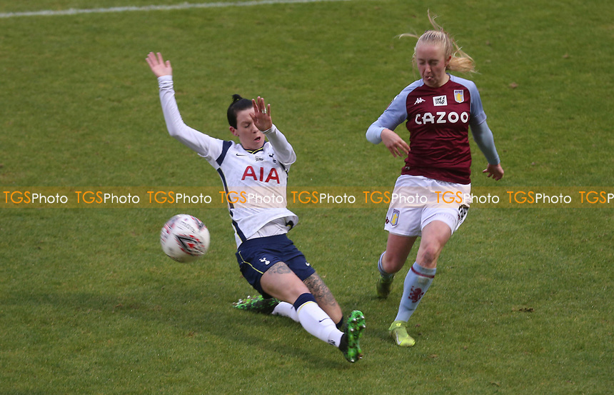 Caroline Siems of Aston Villa crosses the ball during Tottenham Hotspur Women vs Aston Villa Women, Barclays FA Women's Super League Football at the Hive Stadium on 13th December 2020