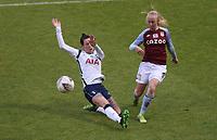 Caroline Siems of Aston Villa crosses the ball during Tottenham Hotspur Women vs Aston Villa Women, Barclays FA Women's Super League Football at the Hive Stadium on 13th December 2020