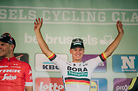 German National Champion Pascal Ackermann (DEU/BORA-hansgrohe) wins the 98th Brussels Cycling Classic 2018, while Jasper Stuyven (BEL/Trek-Segafredo) ends 2nd<br /> <br /> One Day Race:  Brussels > Brussels (201km)
