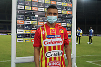 PEREIRA - COLOMBIA,1-12-2020:Delio Angel Ramirez del Deportivo Pereira.Deportivo Pereira y Águilas Doradas Rionegro durante partido de la fecha 2 por la Liguilla BetPlay DIMAYOR 2020 jugado en el estadio Hernán Ramírez Villegas de la ciudad de Pereira. / Delio Angel Ramirez player of Pereira.Deportivo Pereira and Aguilas Doradas Rionegro during a match of the 2st date for the BetPlay DIMAYOR Liguilla 2020 played at the  Hernán Ramirez Villegas Stadium in Pereira city. / Photos: VizzorImage / Pablo Bohórquez / Contribuidor