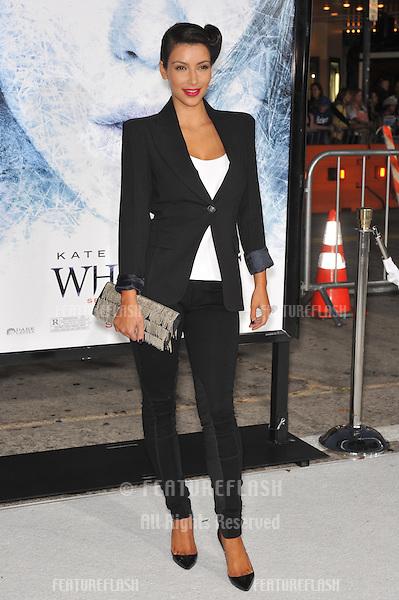 "Kim Kardashian at the Los Angeles premiere of ""Whiteout"" at Mann Village Theatre, Westwood..September 9, 2009.September 9, 2009  Los Angeles, CA.Picture: Paul Smith / Featureflash"