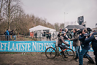 pre-race interview for Marianne Vos (NED/Waow Deals)<br /> <br /> Junior Men's Race<br /> UCI CX Worlds 2018<br /> Valkenburg - The Netherlands