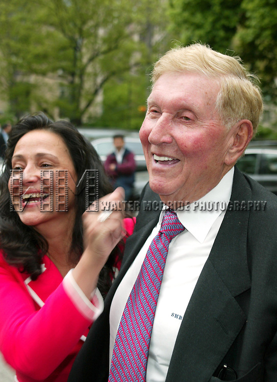 Paula Fortunato and Sumner Redstone at the 2003 CBS Network Upfront at  Tavern on the Green in New York City on May 14, 2003.